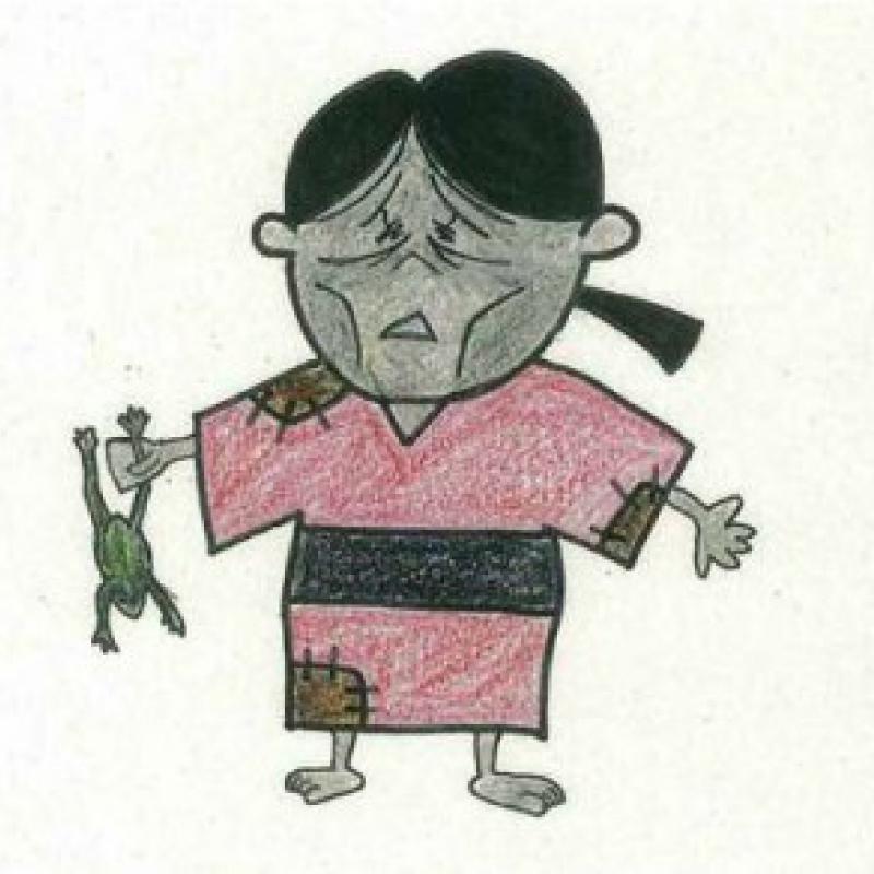 鳥取市でキャラクター「かつ江さん」公開中止