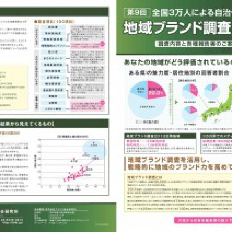 地域ブランド調査2014 パンフレット