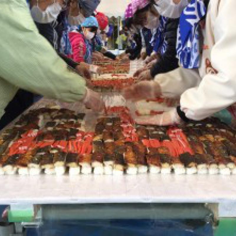 「最も大きい寿司モザイク」ギネス世界記録更新!/福井県大野市