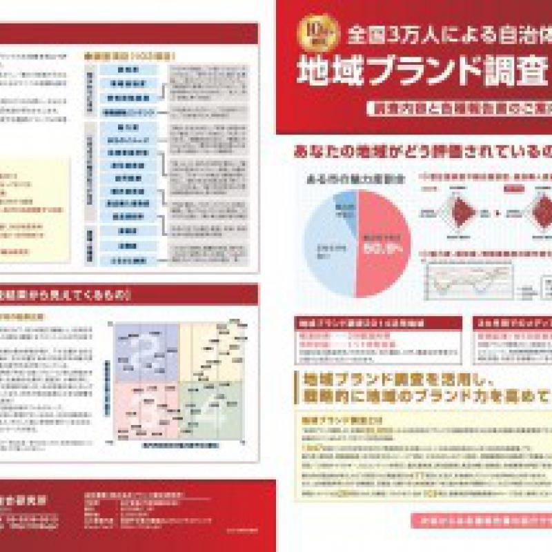 地域ブランド調査2015 パンフレット(各種報告書ご案内)