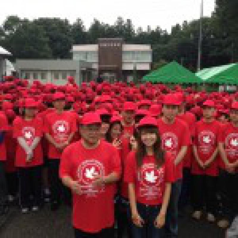 404人で「もみじの葉」を表現 ギネス世界記録認定/長野県箕輪町