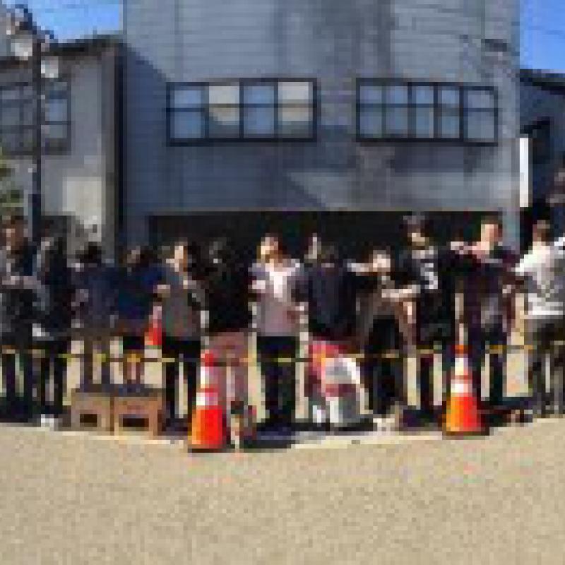 腕組み乾杯でギネス世界記録更新|富山県小矢部市