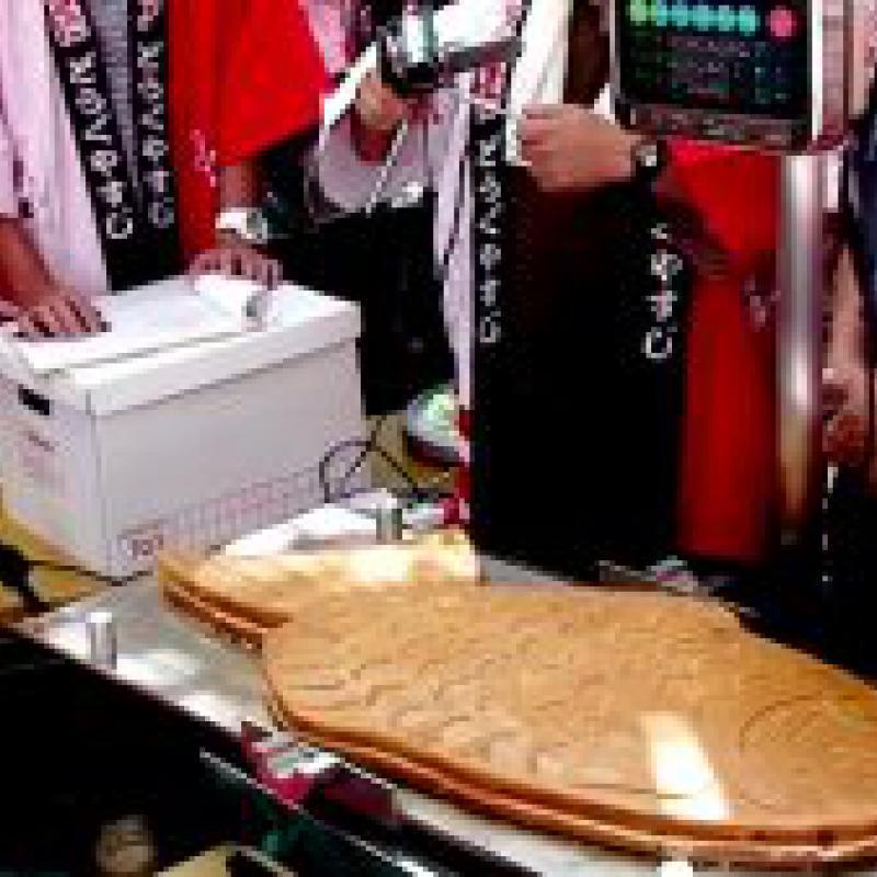 大阪で作った11.58㎏の巨大たい焼き、世界記録に認定!