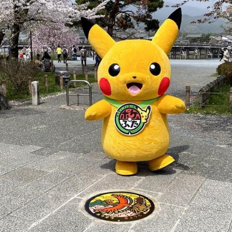 京都市「ポケふた」を市内の公園に設置